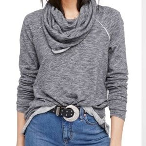 Free People 'Beach Cocoon' Cowl Neck Pullover M